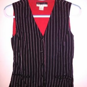 NEW YORK STUDIO VINTAGE BLACK/WHITE STRIPED VEST